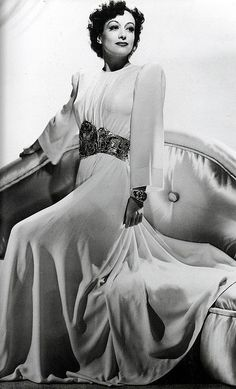 """Joan Crawford in an unused Adrian gown for """"The Women"""", 1939"""