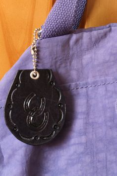 Horseshoe Bag Charm  Leather Double by TinasLeatherCrafts on Etsy. Repin To Remember.