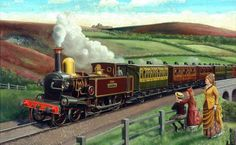 LSWR (London and South Western Railway) Train, 1850, by Cuthbert Hamilton Ellis