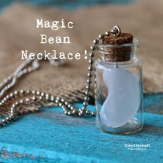 Doodle Craft...: Magic Bean Necklace: Once Upon a Time! I like the idea of a special things necklace. You could anything with that.