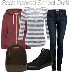 """""""Scott Inspired School Outfit"""" by veterization on Polyvore"""