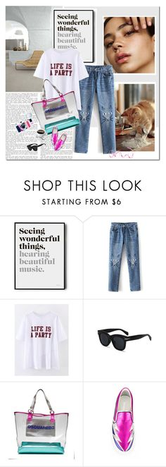 """""""Life is a party"""" by undici ❤ liked on Polyvore featuring Folio, Brika and Dsquared2"""