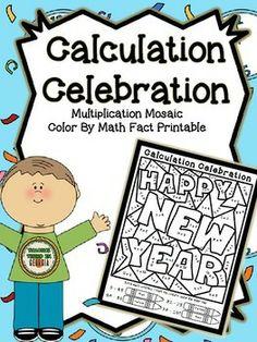Happy New Year! Multiplication Mosaic Mini-Freebie