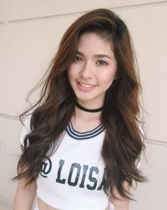 Loisa Andalio from GirlTrends Filipina Beauty, Celebs, Celebrities, Natural Beauty, Beautiful Women, Actresses, T Shirts For Women, Long Hair Styles, Lady