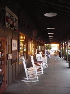 Image detail for -Rocking chairs on the porch of Cracker Barrel I love going there.