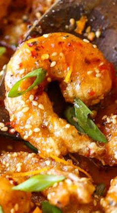 Honey Orange Firecracker Shrimp ~ Sweet and spicy crispy shrimp for all occasions (appetizer or main) with the most heavenly and amazing honey orange sauce!
