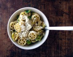 Pasta with lemon Brussels sprouts.