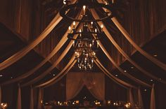 Soft Draping Inside Carriage House | Vintage Southern Wedding at Magnolia Plantation Carriage House by Charleston Wedding Planner ELM Events