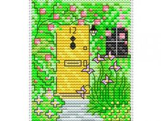 Countryside escape - stitch a pretty springtime cottage, great to decorate your home, or as a sweet house-warming gift. Find this free cross stitch chart plus lots more!
