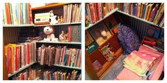 Closet library in the nursery