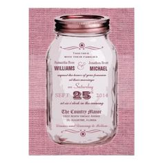 ReviewMason Jar Rustic Vintage Look Pink Wedding InviteIn our offer link above you will see