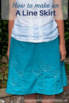 Whip up an A Line skirt for your autumn wardrobe -  free pattern, step by step how to