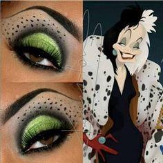Image result for cruella de vil makeup