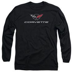 CHEVY/CORVETTE MODERN EMBLEM-L/S ADULT 18/1-BLACK