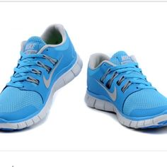 super popular 485aa ce30f Baby blue nike frees Worn many times but still has lots of life left. Very