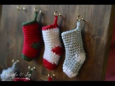 How to make a Crochet Mini Stocking - YouTube