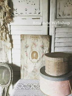 Fabric Covered Boxes, Fabric Boxes, French Fabric, Old Boxes, Beautiful Space, Shabby, Im Not Perfect, Pillows, Vignettes