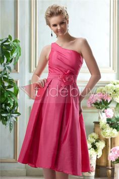 New Style A-Line One-Shoulder Sleeveless Bridesmaid Dress