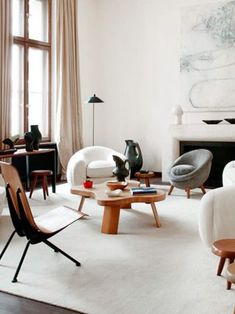 Simple living room layout A simple and stylish design style. A warm home is the best place to rest after a hard day. The picture in the picture is from ArtWindStudio. Interior Exterior, Home Interior, Modern Interior Design, Interior Design Inspiration, Interior Architecture, Scandinavian Interior, Interior Livingroom, Simple Living Room, Home And Living