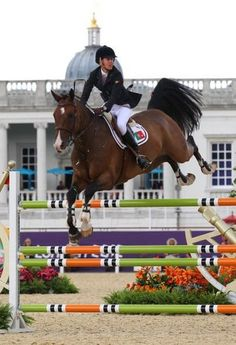 Luciana Diniz day 12 of the 2012 Olympic individual equestrian jumping