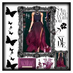 """""""Purple - Black :*"""" by munira-492 ❤ liked on Polyvore featuring Jessica McClintock, Steve Madden, Wrapped In Love, Viktor & Rolf and polyvoreeditorial"""