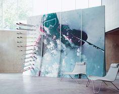 Formica® Envision™ Skier Retail Wall #Formica #Envision #custom #laminate