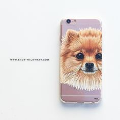 Clear TPU Case Cover - Pomsky Puppy