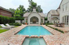 Pool with brick patio
