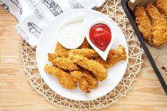 nugets-strips-dietetyczne-bezglutenowe-przepis-9 Chicken Wings, Meat, Ethnic Recipes, Food, Impreza, Inspiration, Beef, Meal, Biblical Inspiration