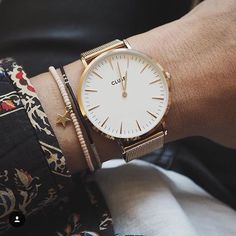 Back in stock! Find our La Bohème Mesh Rose Gold/White and many more at www.clusewatches.com / / #CLUSE #watches