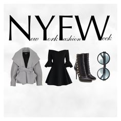 """""""NYFW"""" by elaandco ❤ liked on Polyvore featuring Balmain, Chicwish and Tom Ford"""
