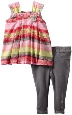 Baju Bayi Murah Dan Lucu - Calvin Klein Bayi-Bayi perempuan Dicetak tunik dengan Celana | Pusat Baju Bayi Terbesar dan Terlengkap Se indonesia