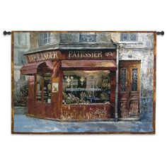Aux Mousquetaires Tapestry - Jacquard Woven Cityscape - Tapestries Aux Mousquetaires Tapestry theme is taken from the three Musketeers, who were among the most prestigious protectors of