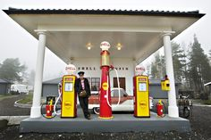 Bjørn har egen bensinstasjon - i hagen! - VG Nett om Bil og trafikk
