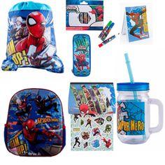 Ghiozdan mic Spider-Man + rechizite scolare Man, Hero, Baseball Cards, Disney, Sports, Character, Hs Sports, Sport, Disney Art