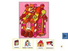 Cuento de la casita de chocolate con pictogramas y actividades de comprensión.