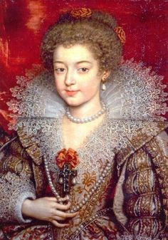 Pourbus = Princesse Christine Marie de France, the second daughter of Henri IV and his second wife, Marie de Medici - painted around 1615, when she was nine and had just received the honorary title of 'Madame Royale' - later she became Duchess of Savoy