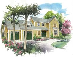 The Bayberry -- spacious two-story living in just 1,744 square feet.