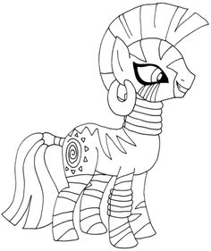My Little Pony Zecora Coloring Page From Category Select 28148 Printable Crafts Of Cartoons Nature Animals Bible And Many More