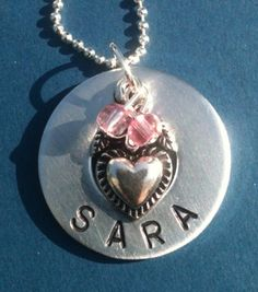 Personalized Metal Stamped Washer Necklace