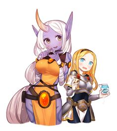 league of legends luxanna crownguard soraka gwayom bandages blonde blue eyes blush dark skin drink food horns jewelry long hair pointed ears ponytail sad smile tattoo white hair yellow eyes potential duplicate Lol League Of Legends, League Of Legends Support, Character Concept, Character Design, Manga, Fanart, Nerd, Cs Go, Fire Emblem