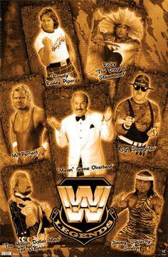 WWE Wrestling 1980s Legends Poster - Mean Gene, Superfly Snuka, Rowdy Roddy Piper, ++
