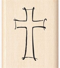 Inkadinkado Rubber Stamp-Jazzy Style Cross & stamps at Joann.com