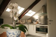 Cucina mansarda | Mansarde | Pinterest | Attic, Kitchens and Interiors