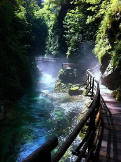 Vintgar Gorge, near Lake Bled, Slovenia.