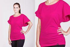 Dámské tričko s netopýřími rukávy v 19 barvách