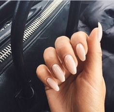 Image via We Heart It #almond #blush #fingers #long #nails #pink