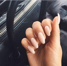 Image via We Heart It #almond #blush #fingers #long #nails #pink