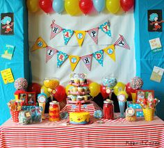 Dr. Seuss Birthday Party Candy Buffet