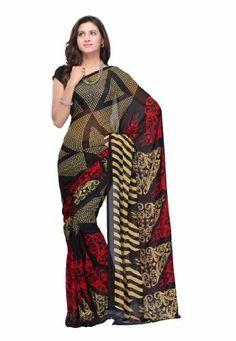 Fabdeal Women Indian Designer Printed Saree Black - Unstitched Fabdeal Inc, http://www.amazon.fr/dp/B00F3ZXVNU/ref=cm_sw_r_pi_dp_zUqotb1NN13VE